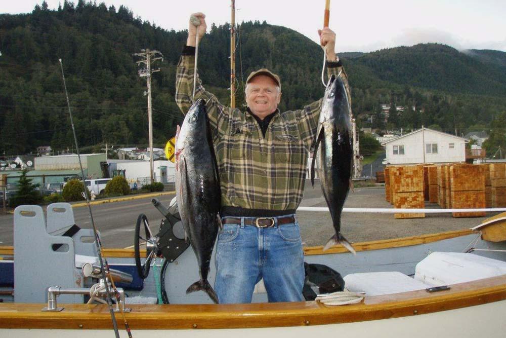 Ed with 2 tuna
